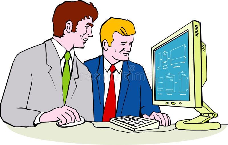 Projeto do CAD do produto no computador ilustração do vetor