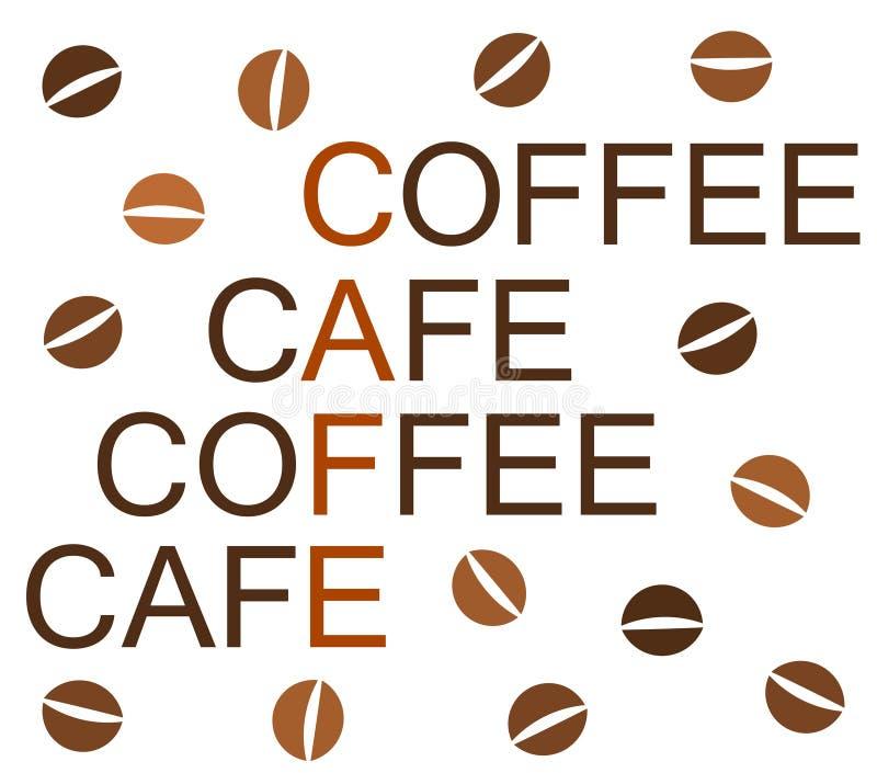 Projeto do café ilustração stock
