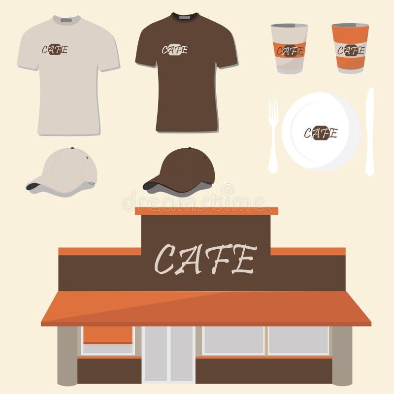 Projeto do café ilustração royalty free
