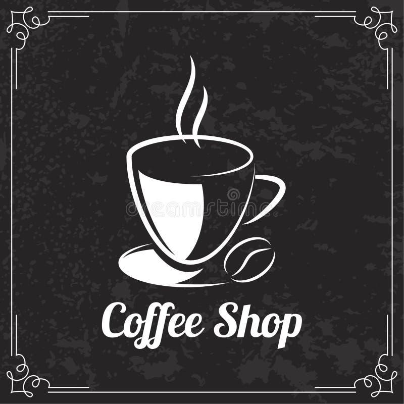 Projeto do café para o menu ilustração stock