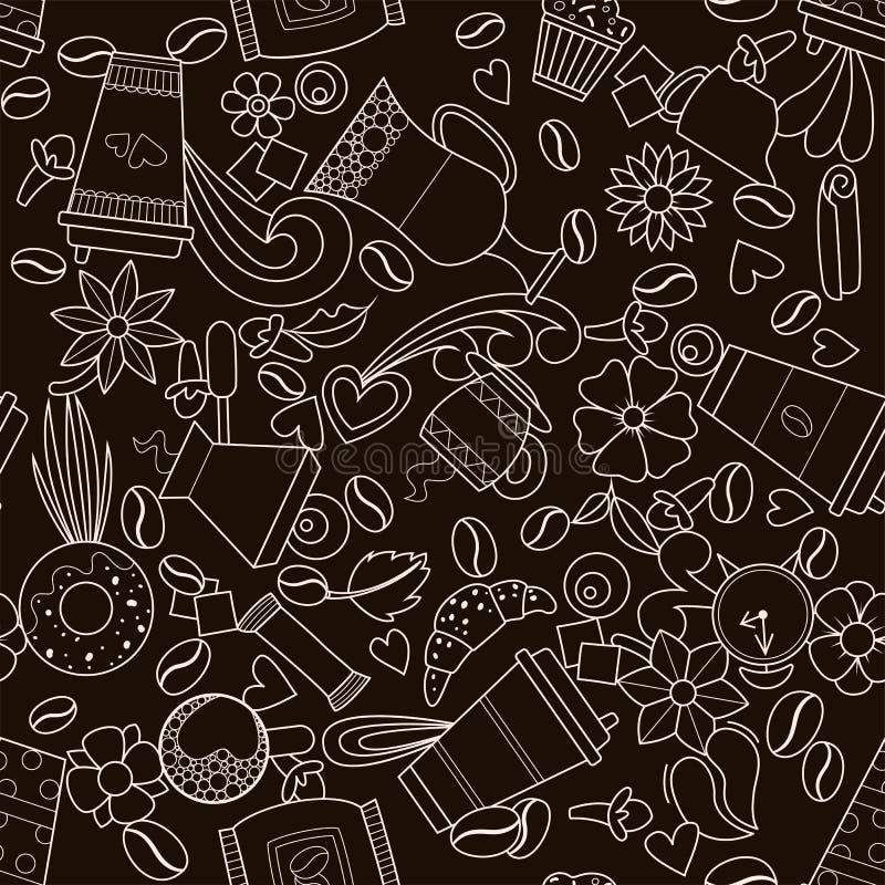 Projeto do caf? ilustração do vetor