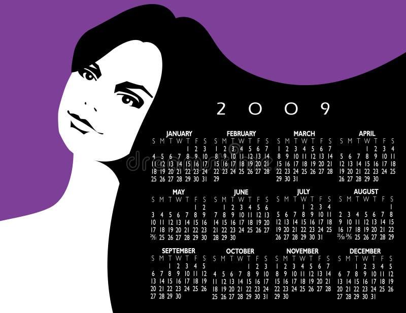 Projeto do calendário de Femal ilustração royalty free