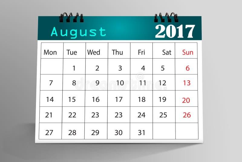 Projeto 2017 do calendário do Desktop foto de stock