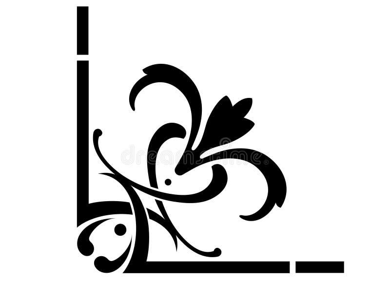 Projeto do canto do estilo do estêncil ilustração stock