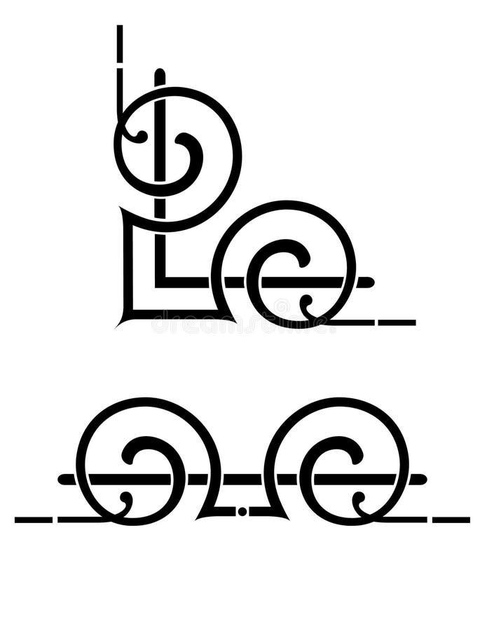 Projeto do canto do estilo do estêncil ilustração do vetor