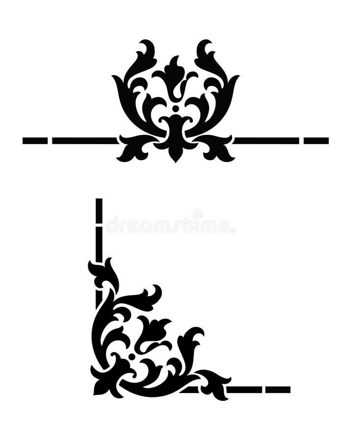 Projeto do canto do estilo do estêncil ilustração royalty free