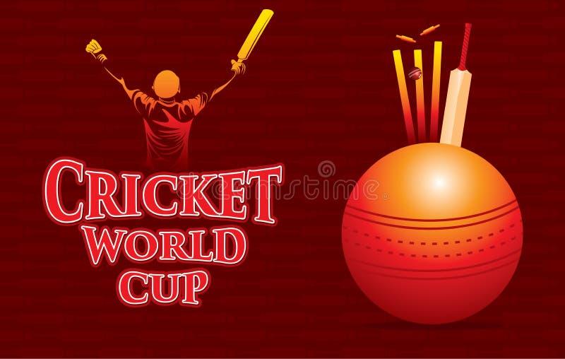 Projeto do cartaz do campeonato do mundo do grilo ilustração stock