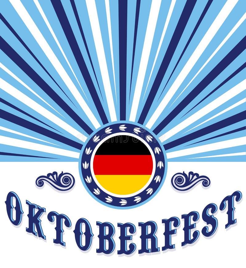 Projeto do cartaz da celebração do vintage de Oktoberfest ilustração stock