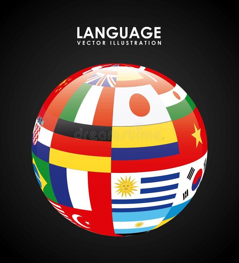 Projeto do cartaz da língua ilustração royalty free