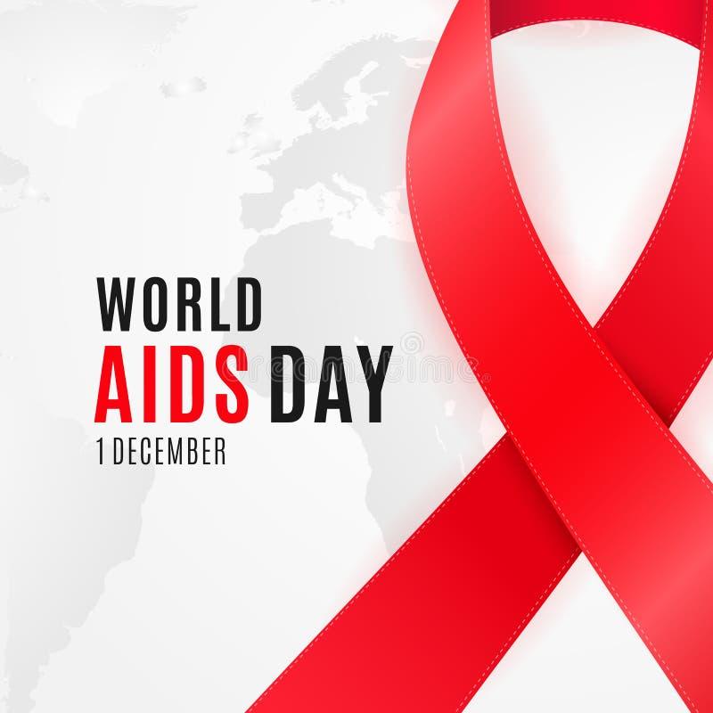 Projeto do cartaz do Dia Mundial do Sida para a campanha de sensibilização nacional do VIH ilustração do vetor
