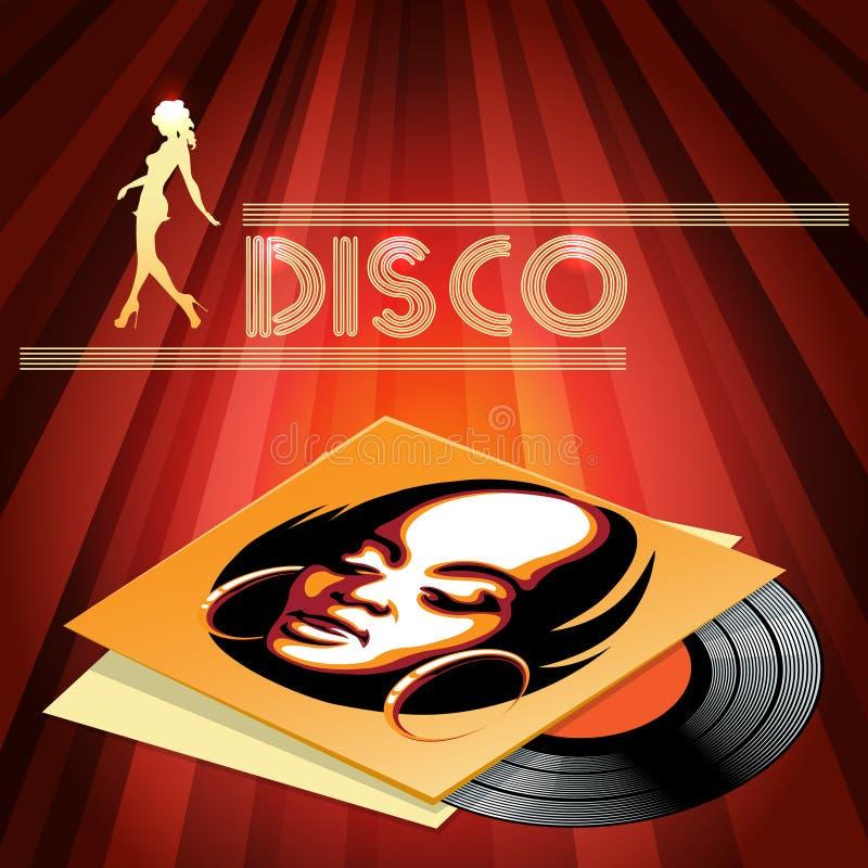 Projeto do cartaz do clube do disco ilustração stock