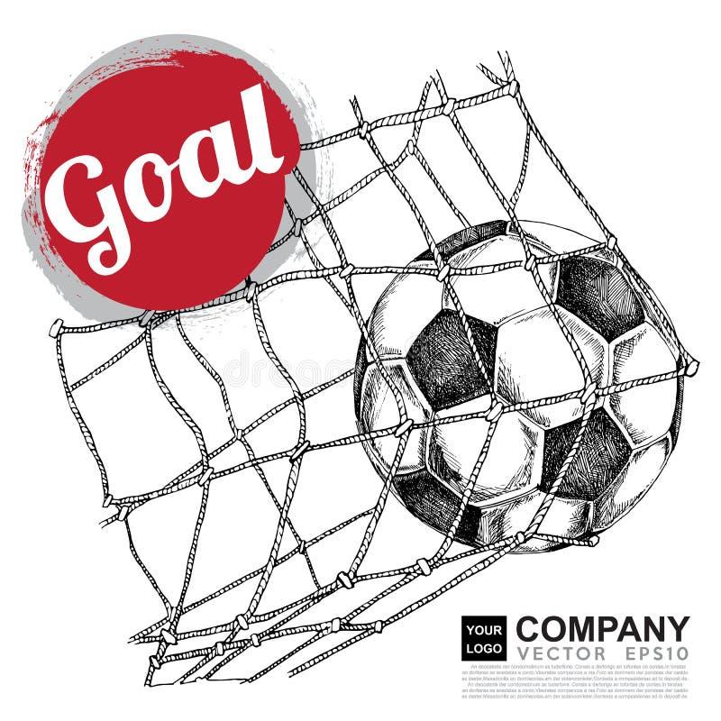 Projeto do cartaz do futebol (futebol) ilustração royalty free