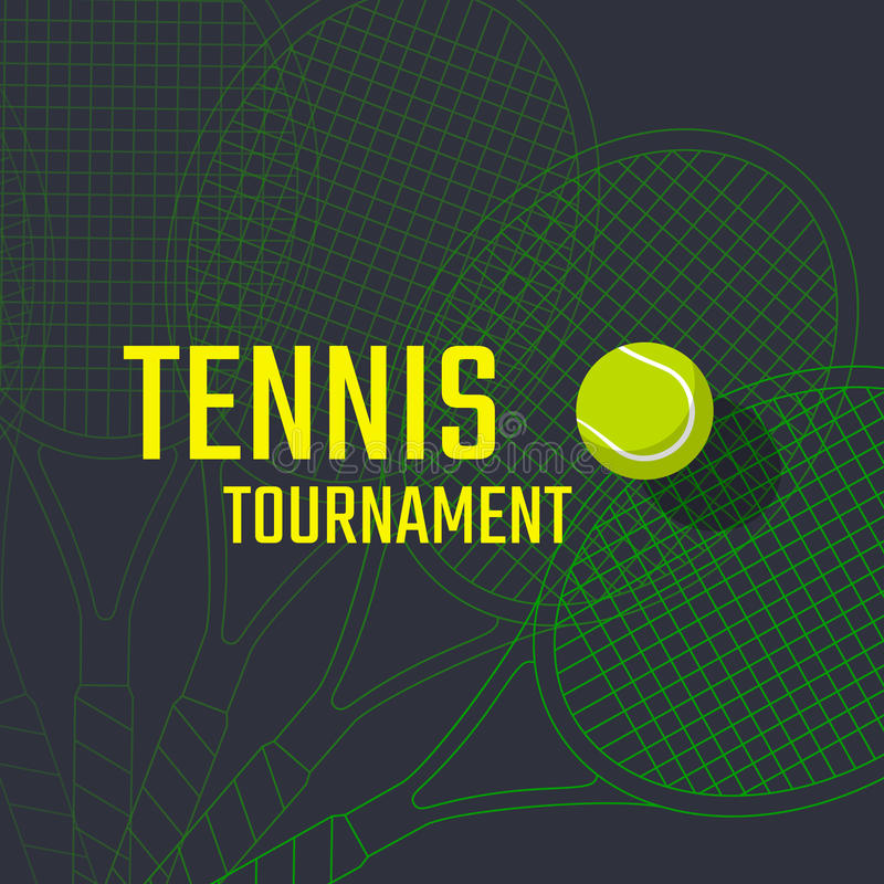 Projeto do cartaz do tênis ilustração stock