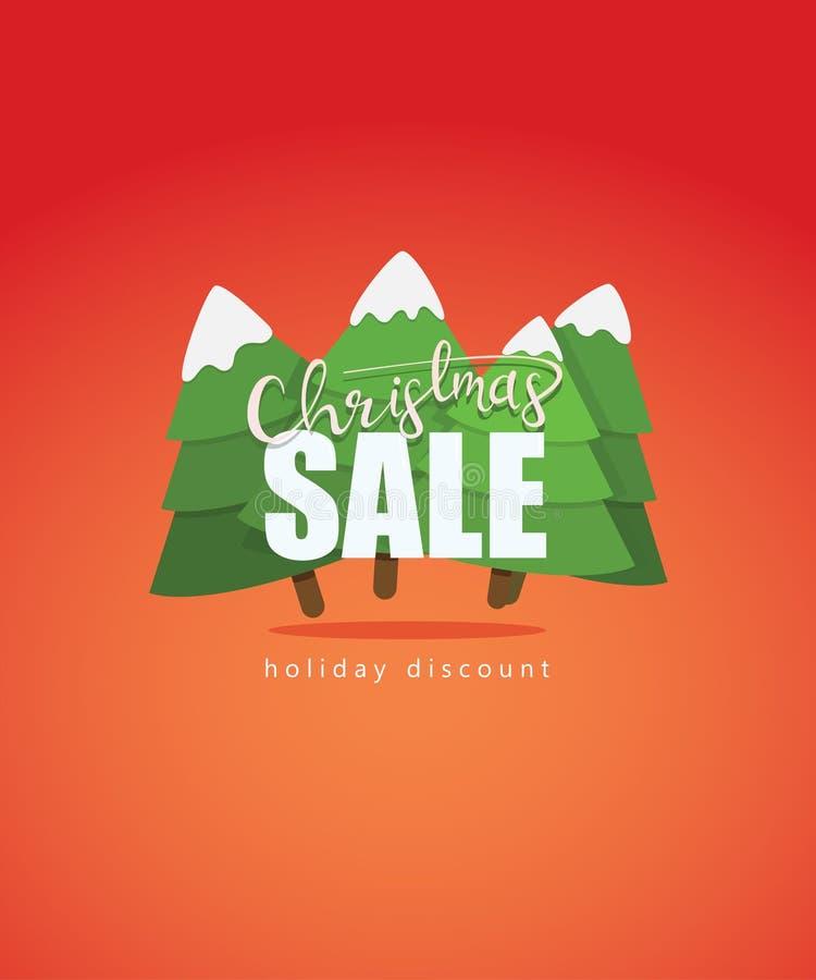 Projeto do cartaz e da bandeira da venda do Natal ilustração stock