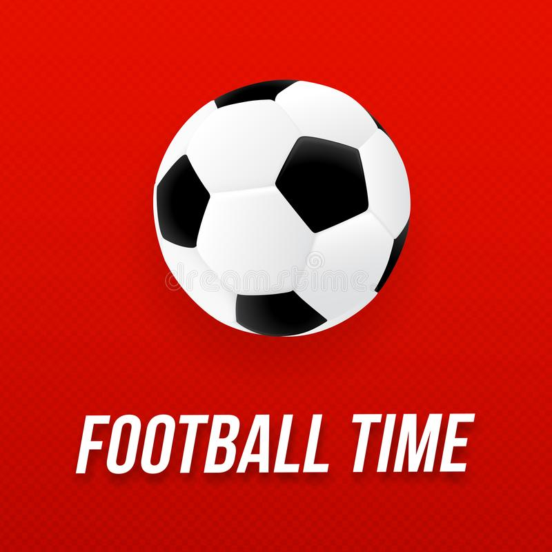 Projeto 2018 do cartaz do futebol com bola de futebol ilustração stock