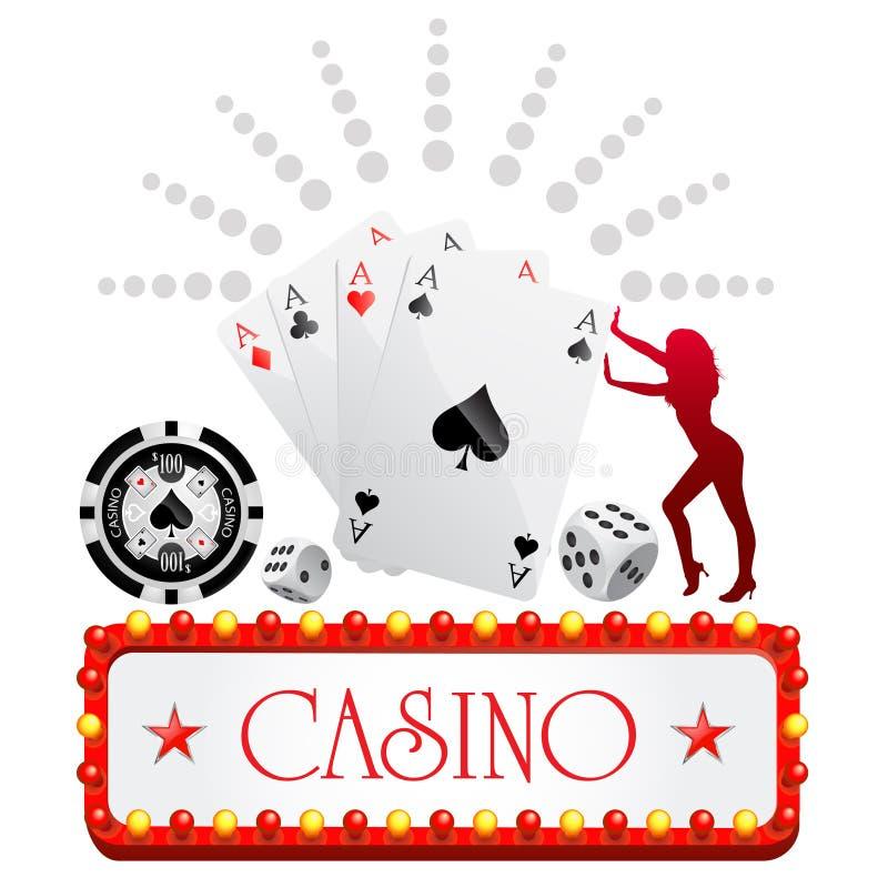 Projeto do casino ilustração stock