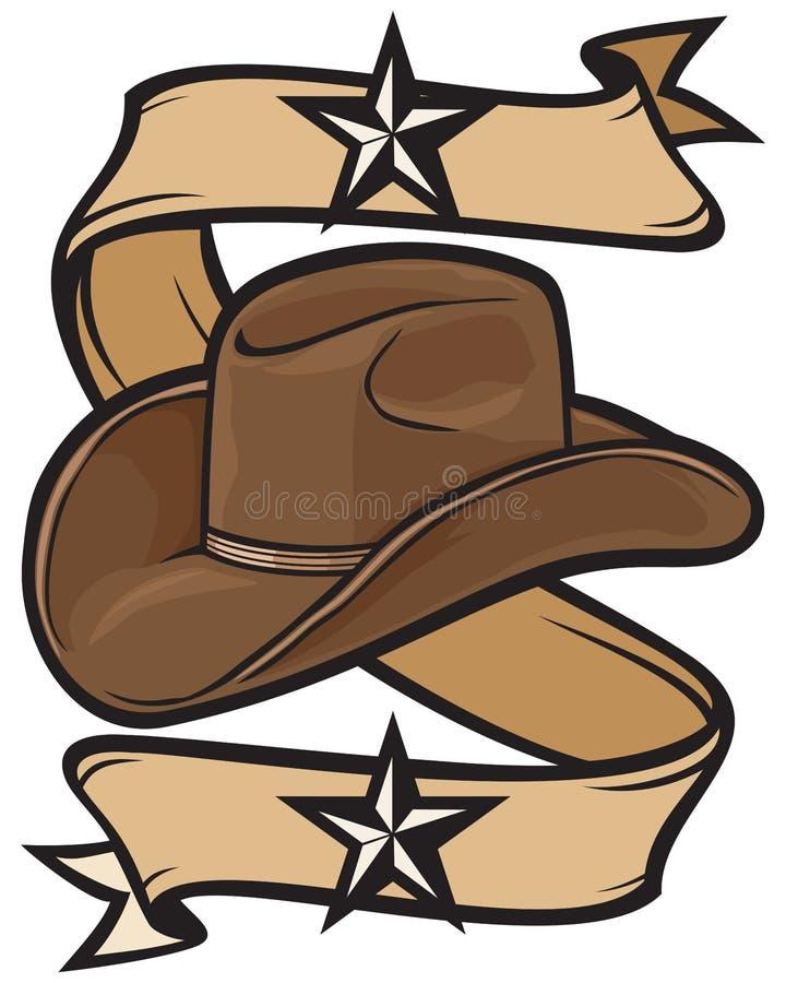 Projeto do chapéu de cowboy ilustração stock