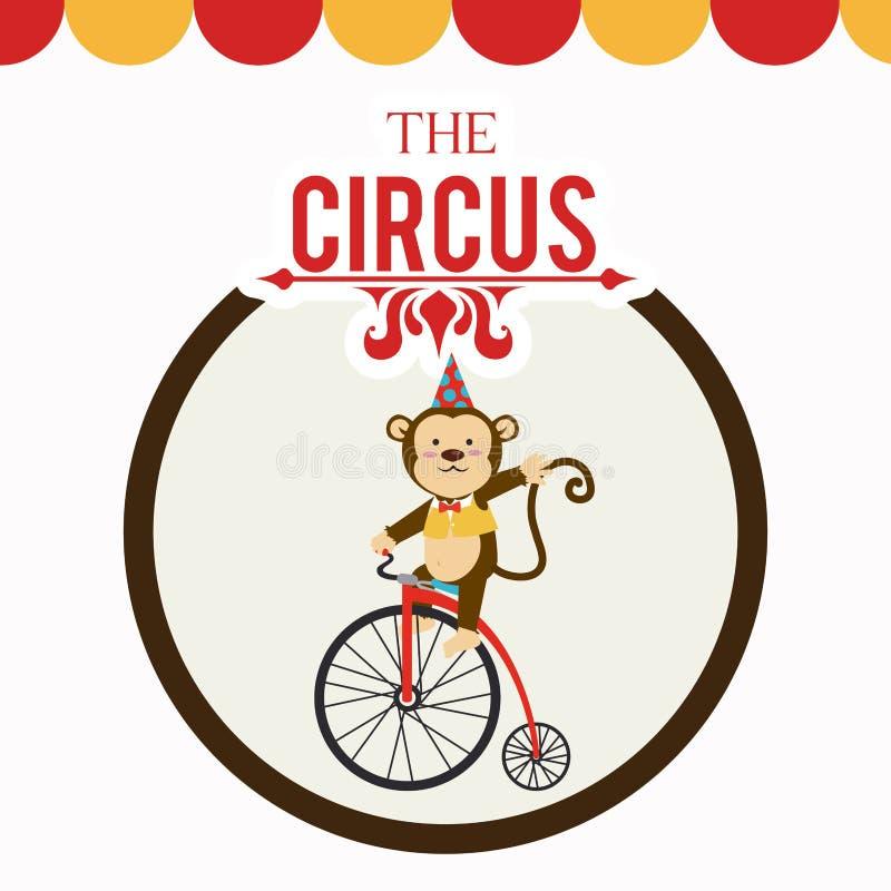 Projeto do circo ilustração do vetor
