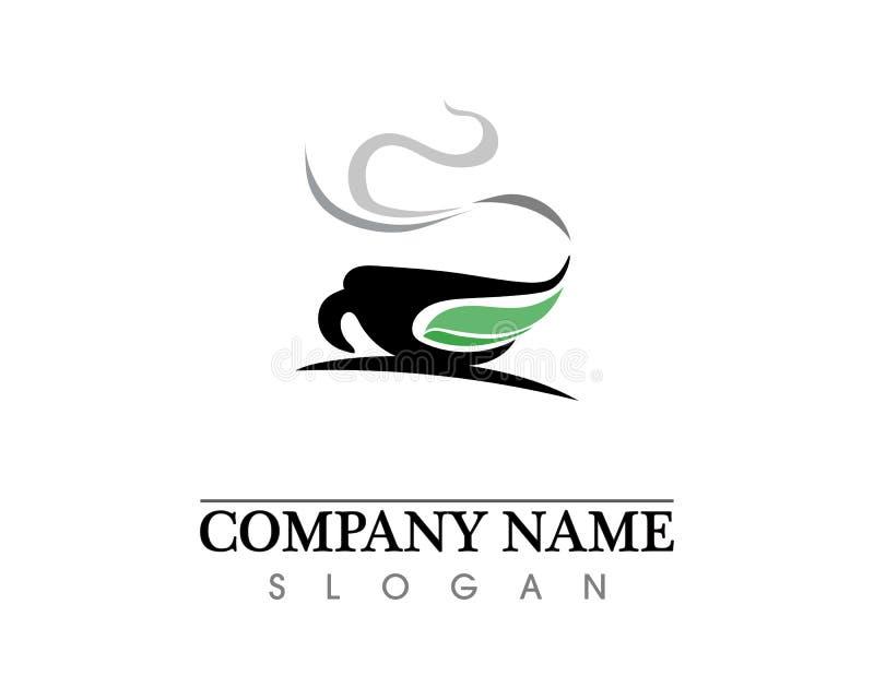 Projeto do ?cone do vetor de Logo Template do copo de caf? ilustração do vetor