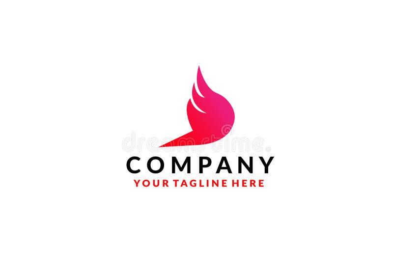 Projeto do ?cone do vetor de Wing Logo Template ilustração stock