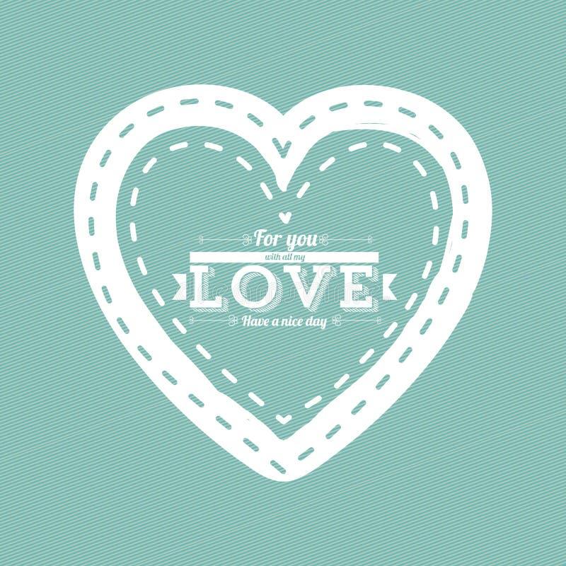 Projeto do coração ilustração royalty free
