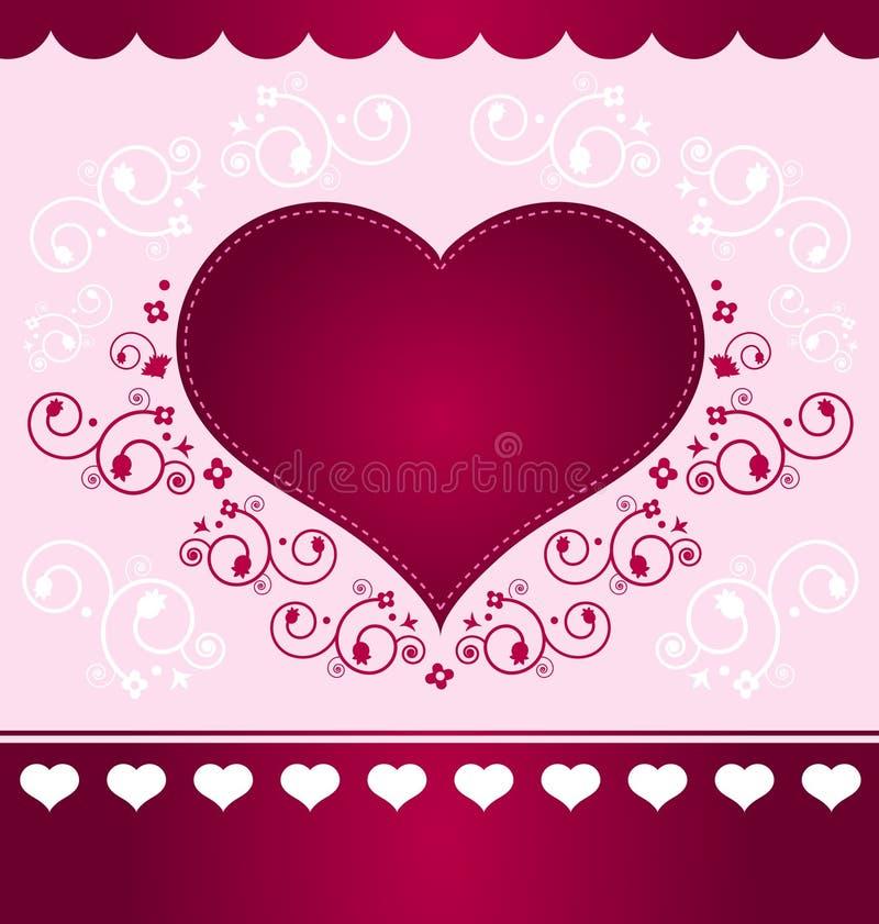 Projeto do coração na luz - fundo cor-de-rosa ilustração stock
