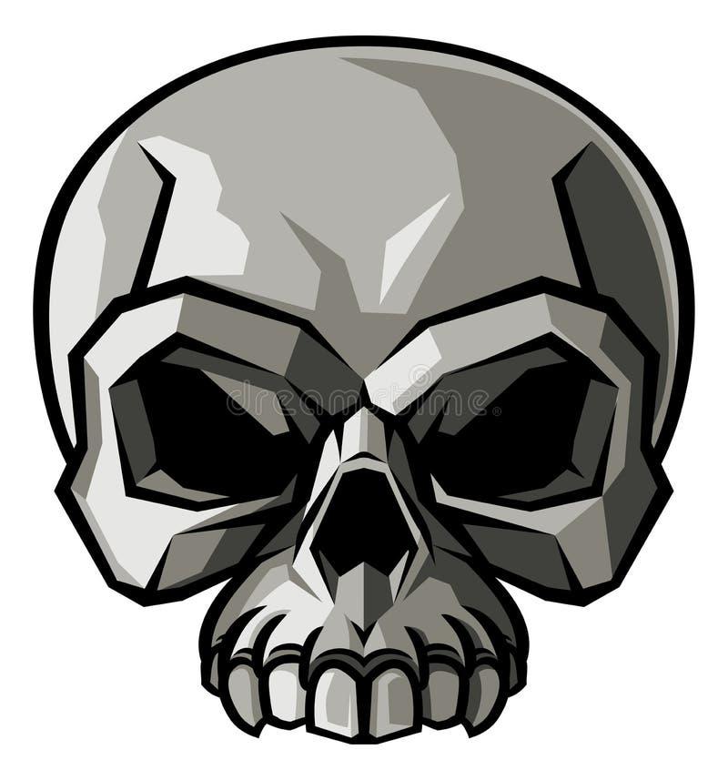 Projeto do crânio ilustração stock