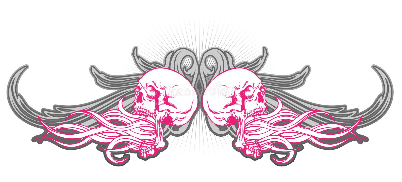 Download Projeto Do Crânio Na Cor-de-rosa Ilustração do Vetor - Ilustração de ornament, cor: 10063355