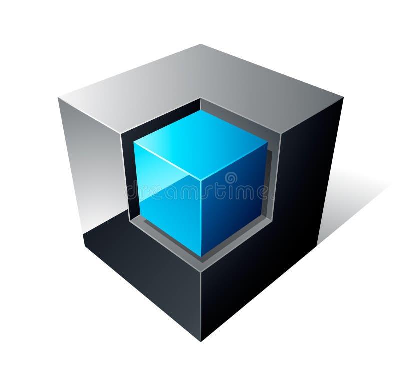 Projeto do cubo 3d ilustração royalty free