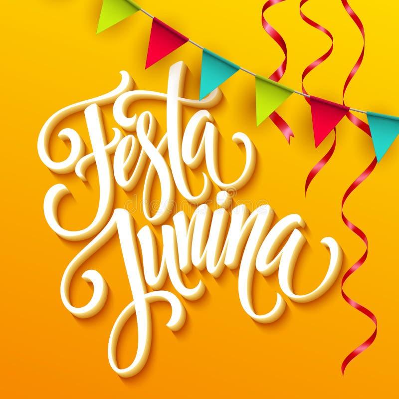 Projeto do cumprimento do partido de Festa Junina Ilustração do vetor ilustração royalty free