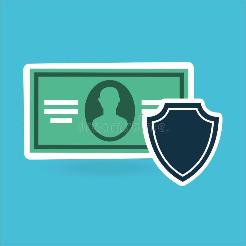 projeto do dólar da conta de dinheiro da segurança da proteção do conceito ilustração do vetor