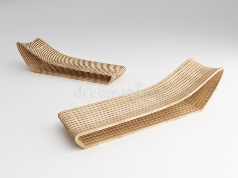 Projeto do Daybed do conceito de madeira da produção fotografia de stock
