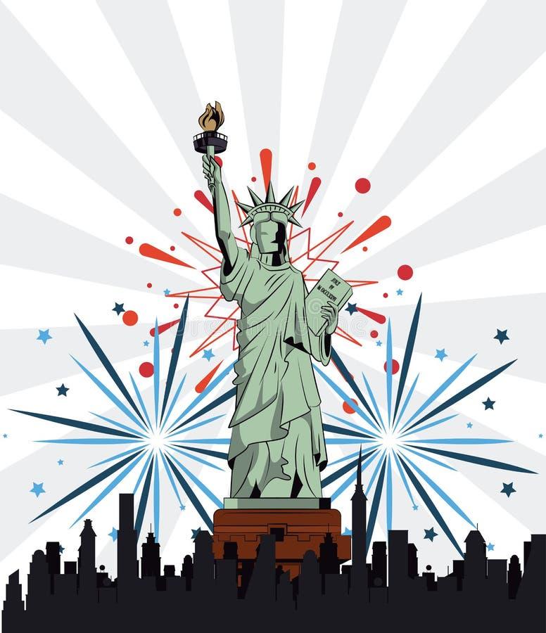 Projeto do Dia da Independência dos EUA ilustração stock
