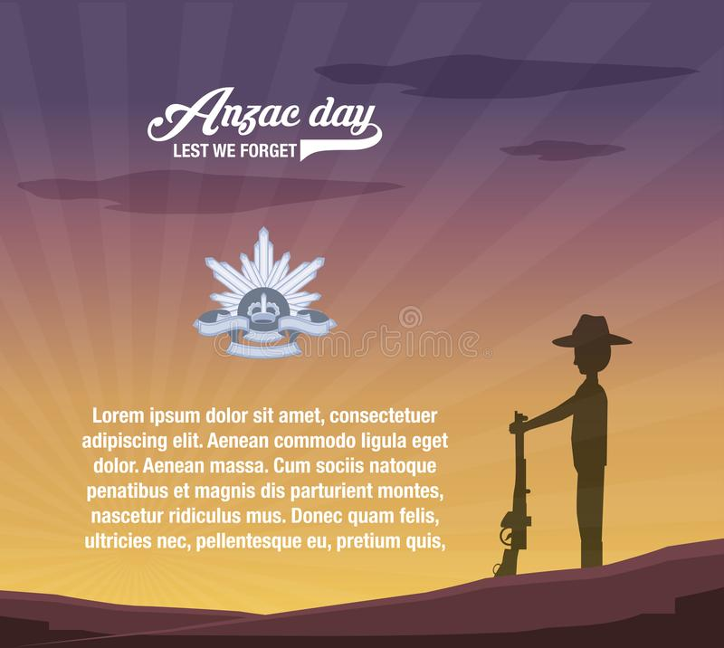 Projeto do dia de Anzac ilustração do vetor