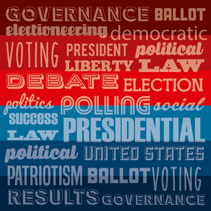 Projeto do dia de eleições ilustração do vetor