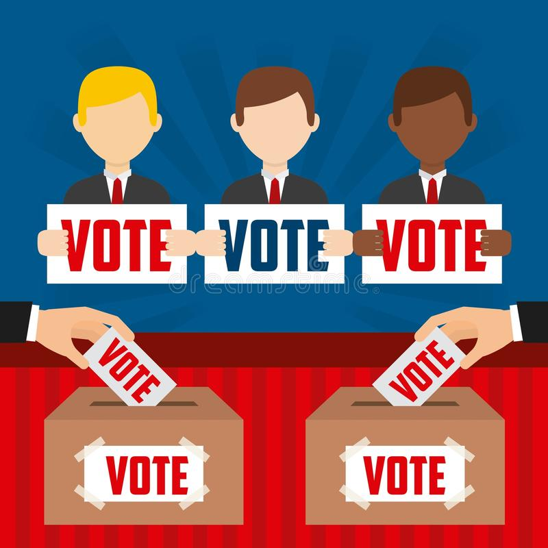Projeto do dia de eleições ilustração stock