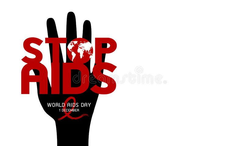 Projeto do Dia Mundial do Sida no fundo branco ilustração do vetor