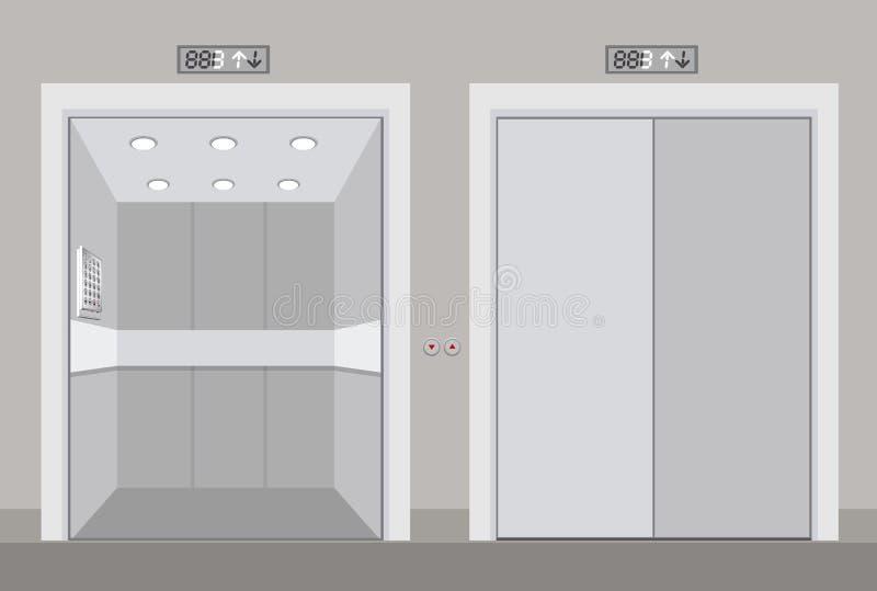 Projeto do elevador ilustração stock