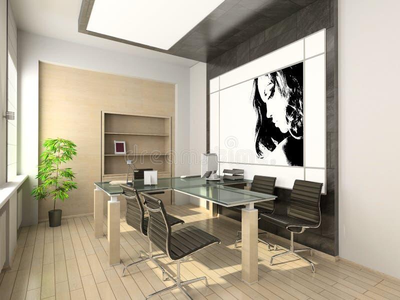 Projeto do escritório moderno. Interior alta tecnologia. ilustração do vetor