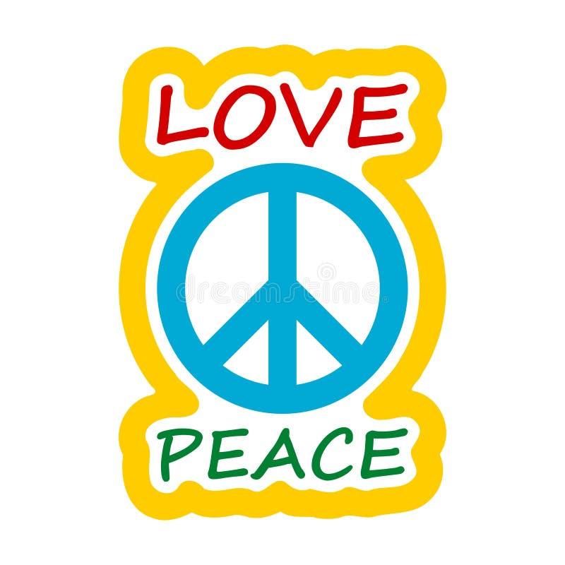 Projeto do estilo da hippie do amor e da paz ilustração do vetor