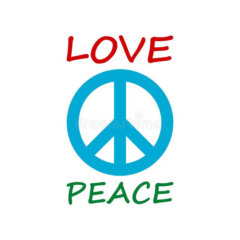 Projeto do estilo da hippie do amor e da paz ilustração stock