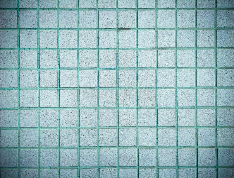 Projeto do estilo do vintage da parede azul da textura da telha de mosaico foto de stock