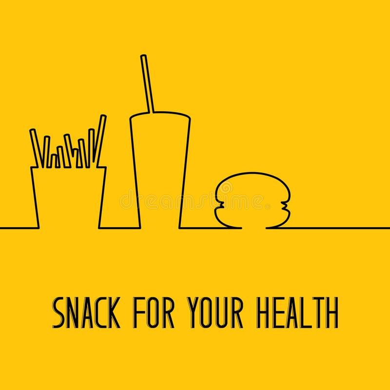 Projeto do fast food ilustração royalty free