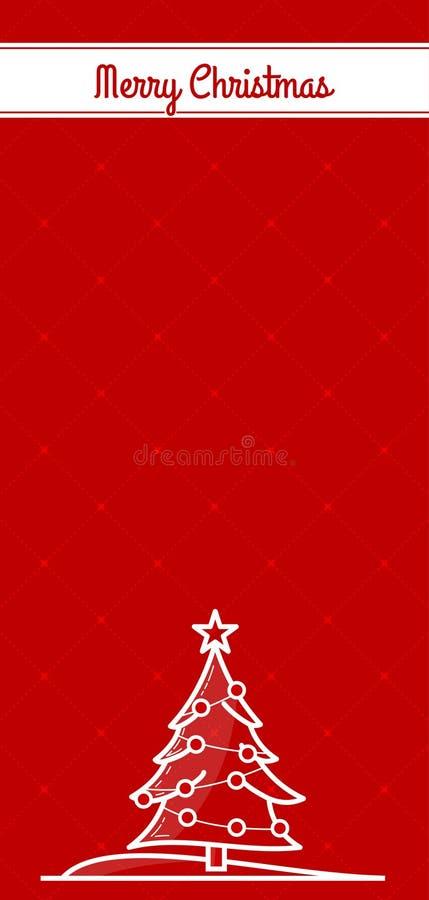 Projeto do Feliz Natal cartão, do inseto ou do cartaz Ilustração do vetor ilustração stock