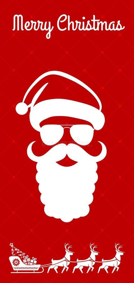 Projeto do Feliz Natal cartão, do inseto ou do cartaz Ilustração do vetor ilustração do vetor