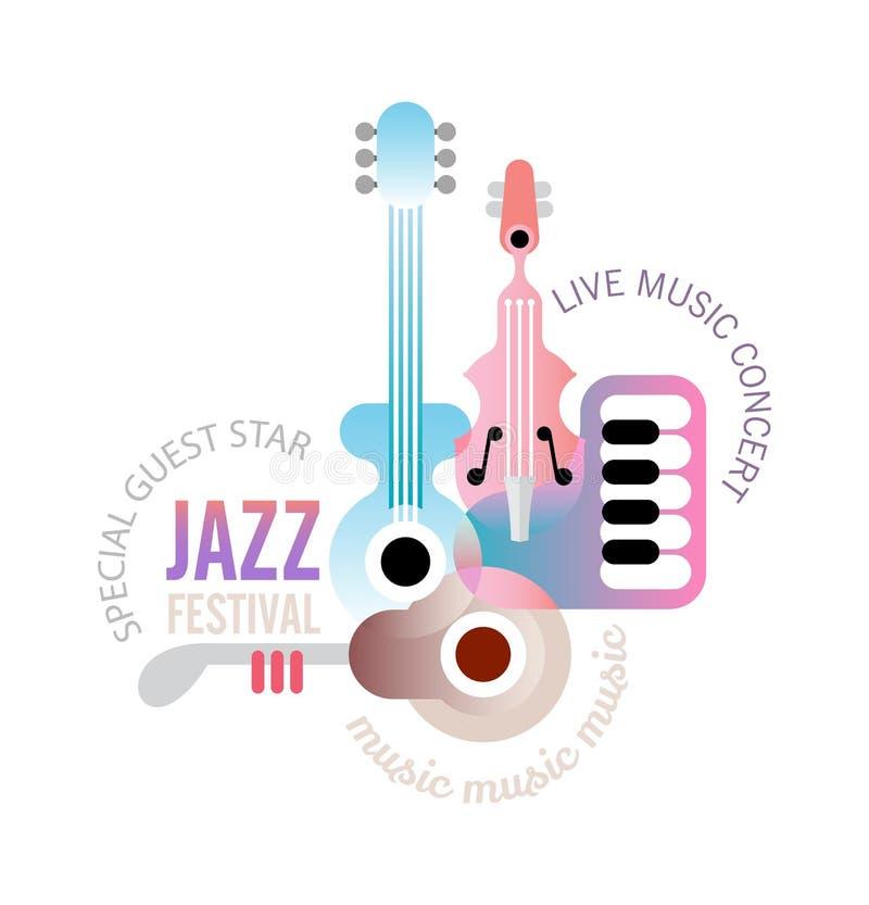 Projeto do festival de música ilustração do vetor
