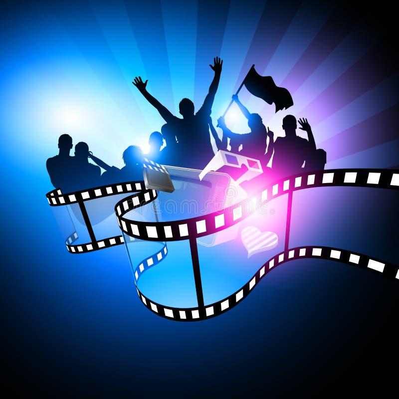 Projeto do festival de película ilustração do vetor