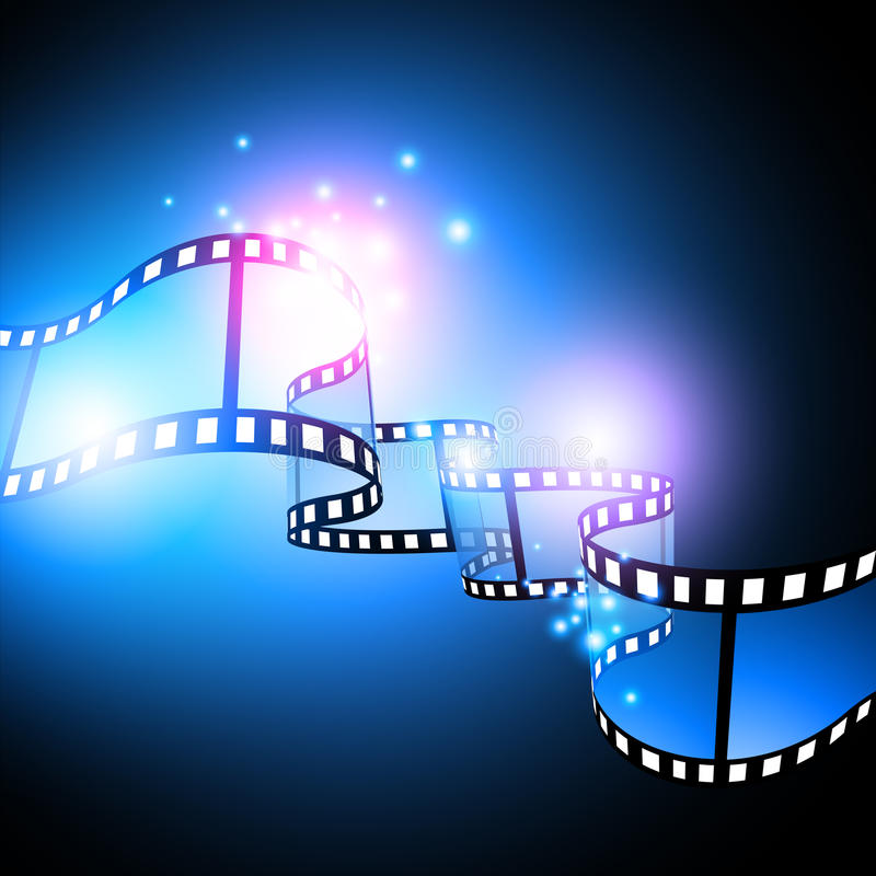 Projeto do festival de película ilustração royalty free