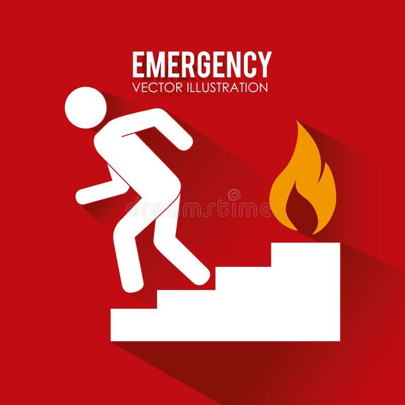 Projeto do fogo ilustração do vetor
