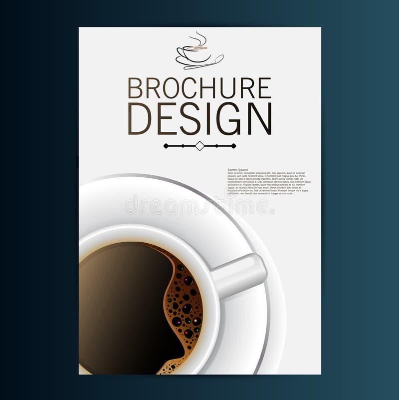Projeto do folheto com café ilustração stock